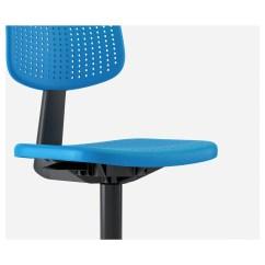 Swivel Chair Keeps Turning Office Back Cushion Alrik Blue Ikea