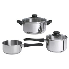 Kitchen Pan Set Vertical Shelf Dividers Annons 5 Piece Cookware Glass Stainless Steel Ikea Works Well On All Types Of Hobs Including