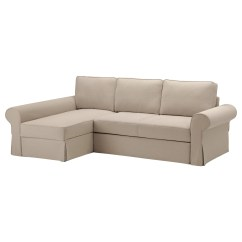 Ikea Sleeper Sofa With Chaise Pottery Barn Charleston Reviews Backabro Bed Longue Hylte Beige