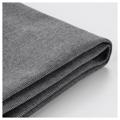 Dark Grey Sofa Cover Leather Auction London Backabro Two Seat Bed Nordvalla Ikea