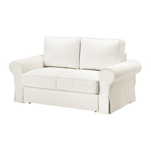 length of 2 seater sofa arne jacobsen swan backabro two seat bed hylte white ikea