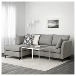 Sofa W Chaise Modern White Leather Textile Queen Sleeper K43 2 Bankeryd Seat Longue Left Grey Ikea