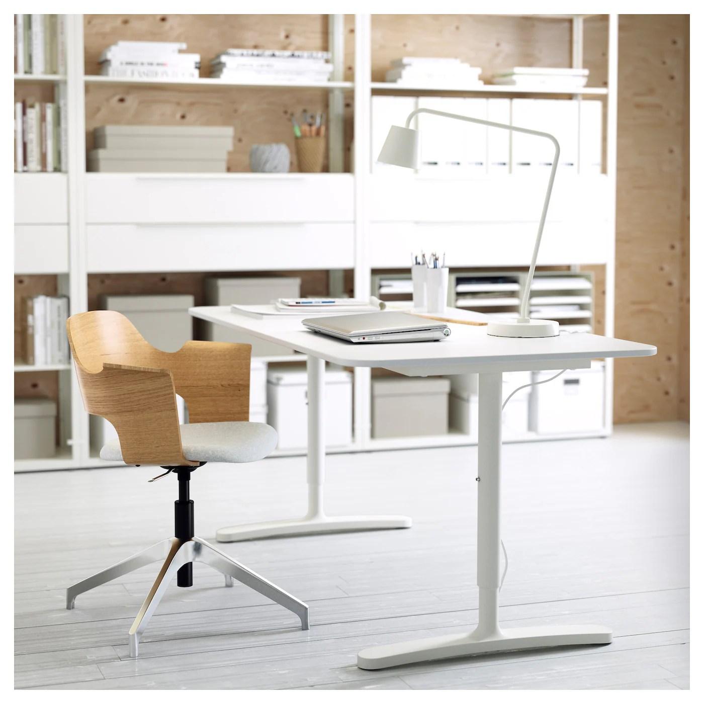 white desk chair ikea stool legs bekant 160 x 80 cm