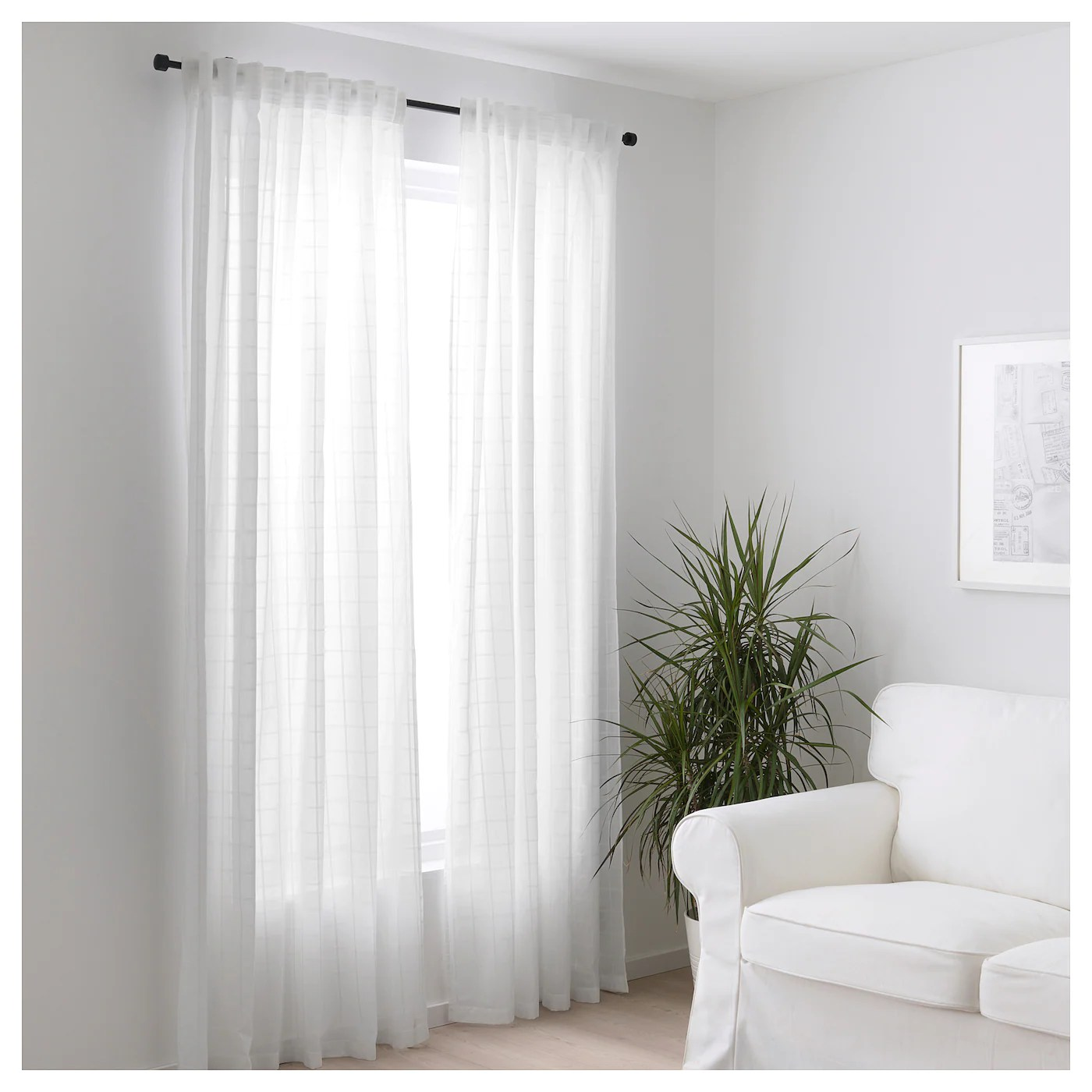 BERGITTE Sheer curtains 1 pair White 140 x 250 cm  IKEA