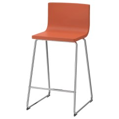 Orange Cafe Chairs Movie Theater For Sale Bernhard Bar Stool With Backrest Chrome Plated Mjuk