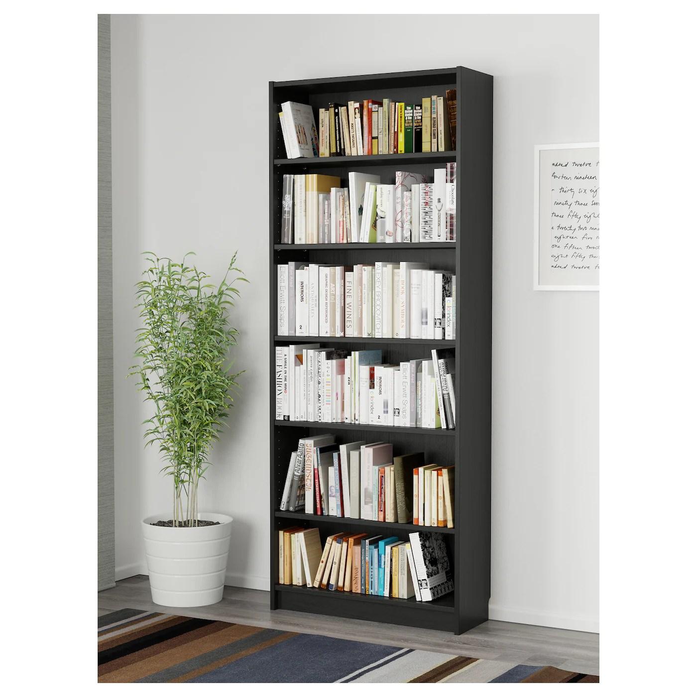 BILLY Bookcase Black Brown 80 X 28 X 202 Cm IKEA