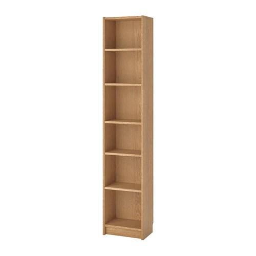 BILLY Bookcase Oak veneer 40 x 28 x 202 cm  IKEA