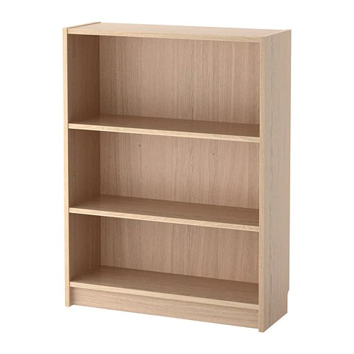 BILLY Bookcase White Stained Oak Veneer 80 X 28 X 106 Cm
