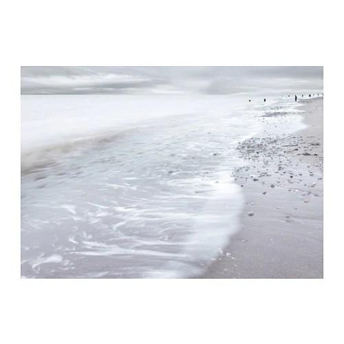 BJRKSTA Picture Winter Waves 140x100 Cm IKEA