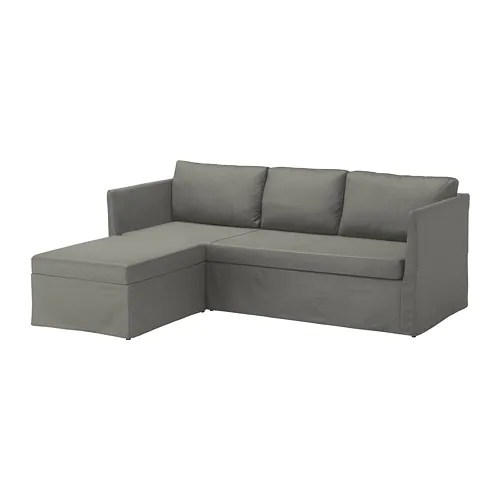pull out sofa bed cheap vitra soft modular brÅthult corner sofa-bed borred grey-green - ikea