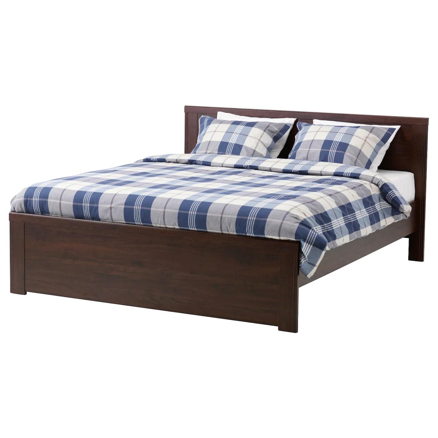 Brusali Bed Frame Brown Luroy Standard Double