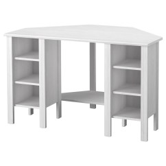 Ikea Computer Chairs Ny Yankee Rocking Chair Brusali Corner Desk White 120 X 73 Cm