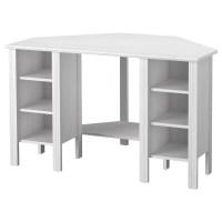BRUSALI Corner desk White 120 x 73 cm - IKEA