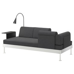 3 Sided Sectional Sofa Daybed With Storage Delaktig Seat W Side Table And Lamp Hillared