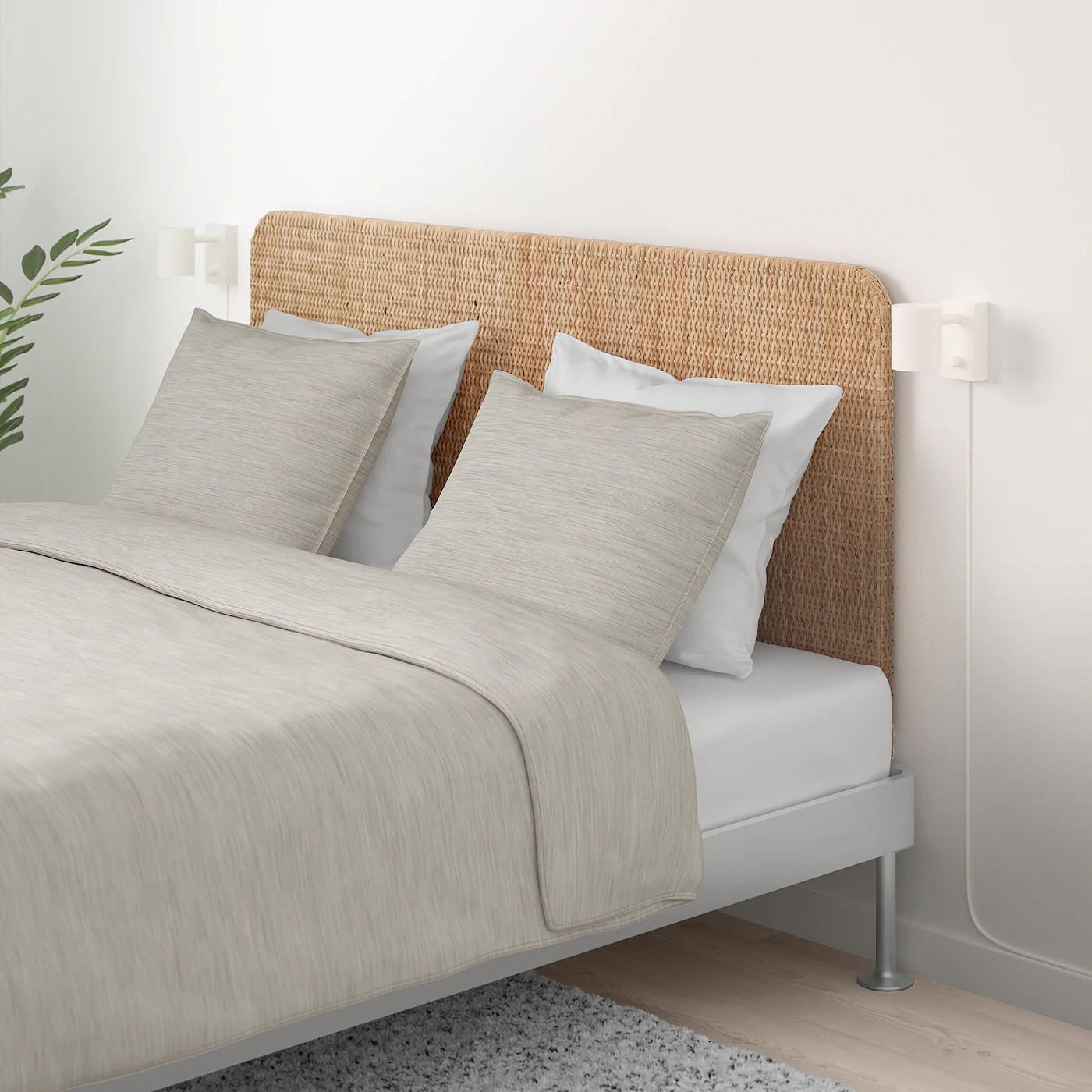 delaktig bed frame with headboard aluminium rattan standard king