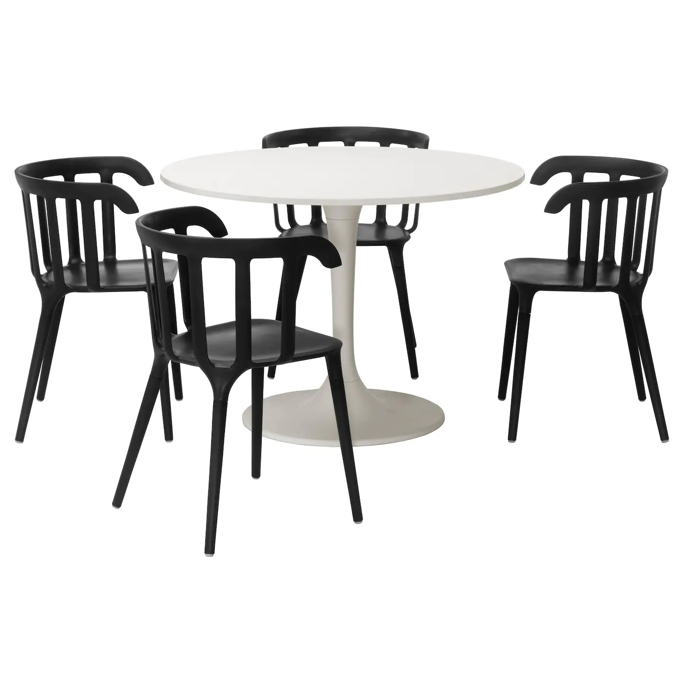 ikea dining chair covers black and white kids hanging docksta ps 2012 table 4 chairs 105 cm