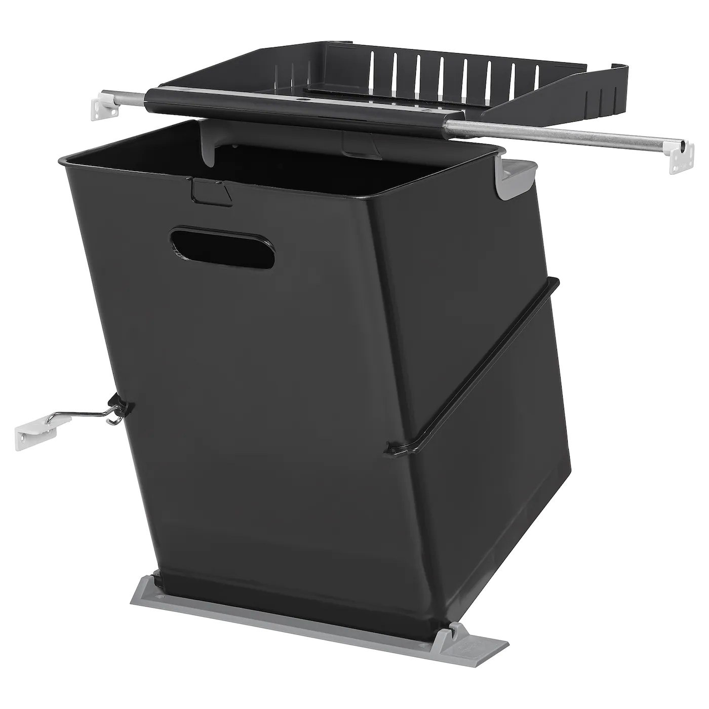 door mounted kitchen garbage can with lid portable islands for the bins and recycling ikea