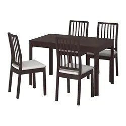 inexpensive kitchen table sets wall art dining room ikea ekedalen and 4 chairs