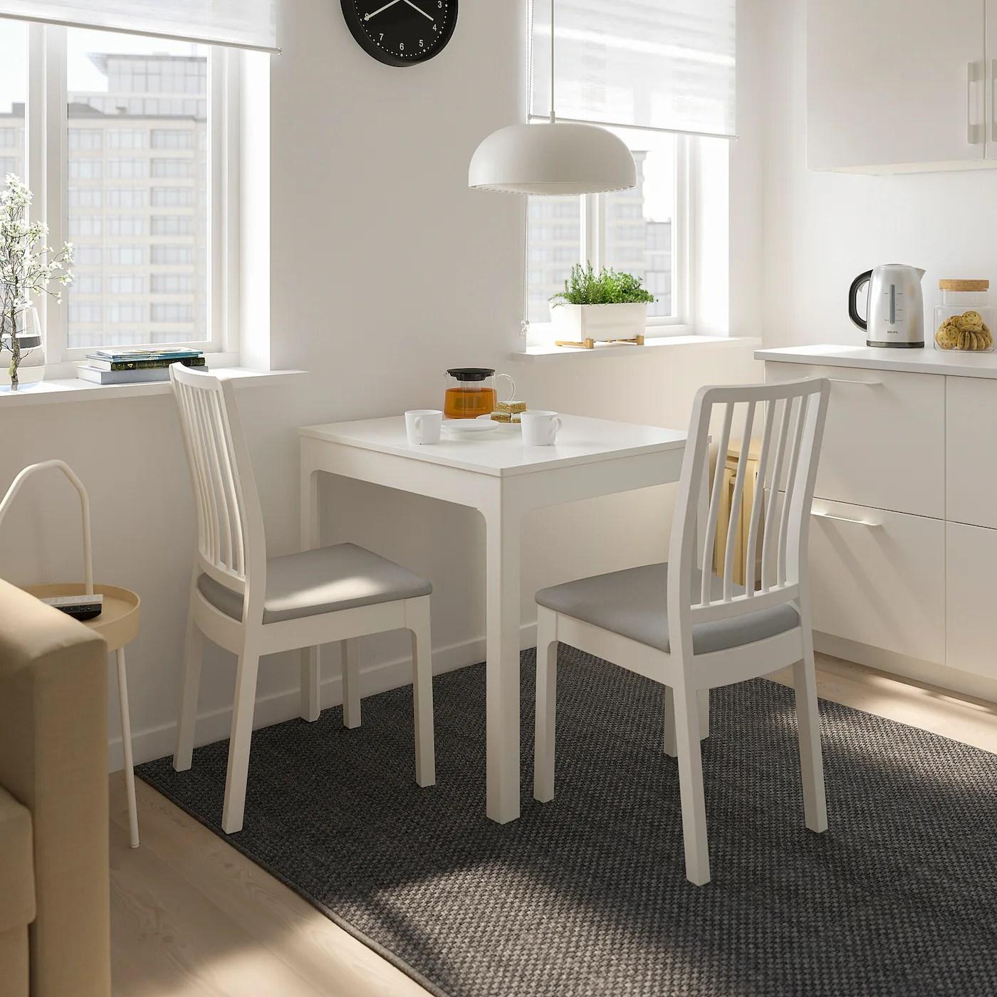 ekedalen extendable table white 80 120x70 cm