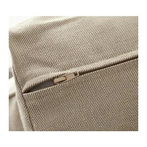 ikea white slipcover sofa single bed melbourne ektorp armchair nordvalla dark beige -