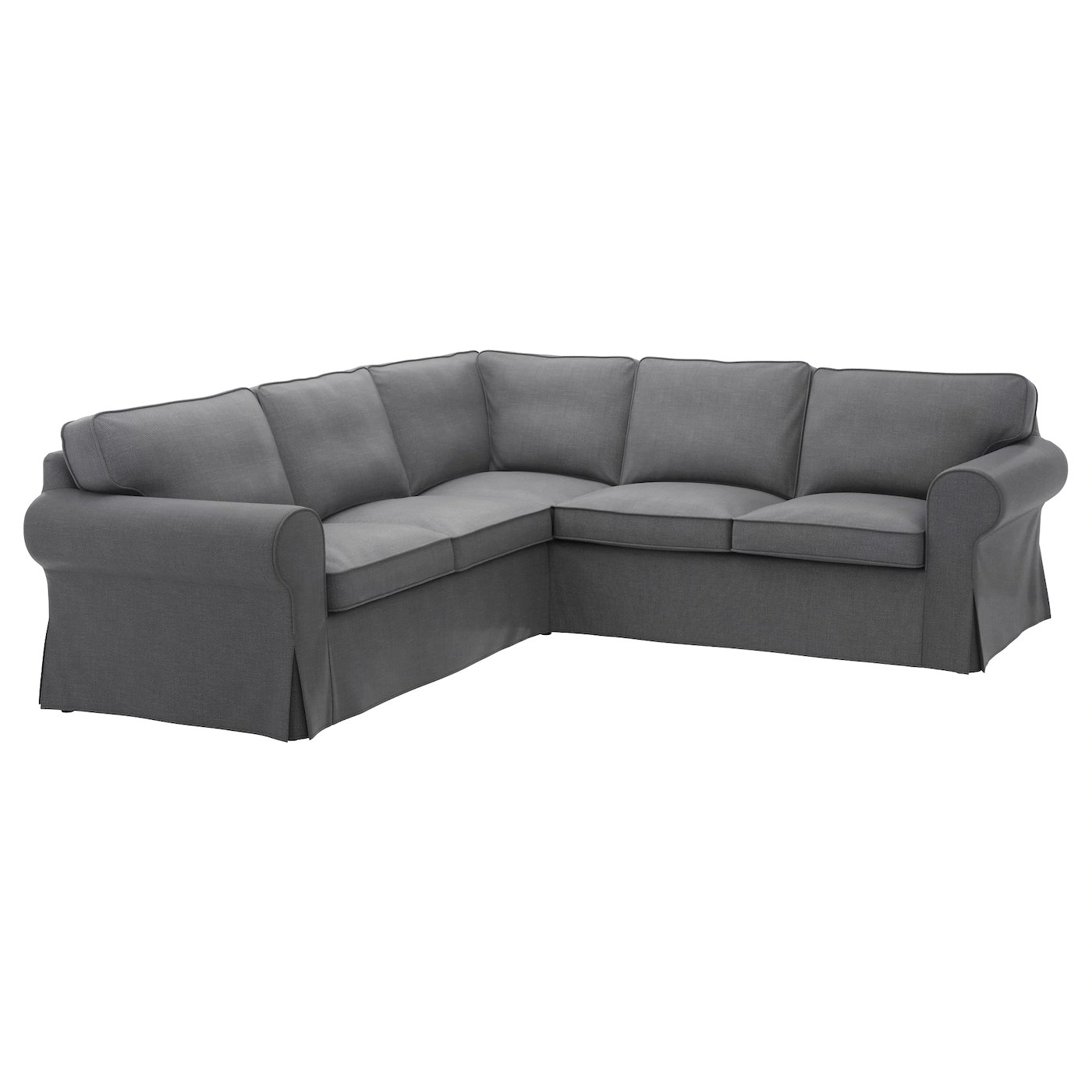 large dark grey corner sofa coaster futon bed ektorp 4 seat nordvalla ikea