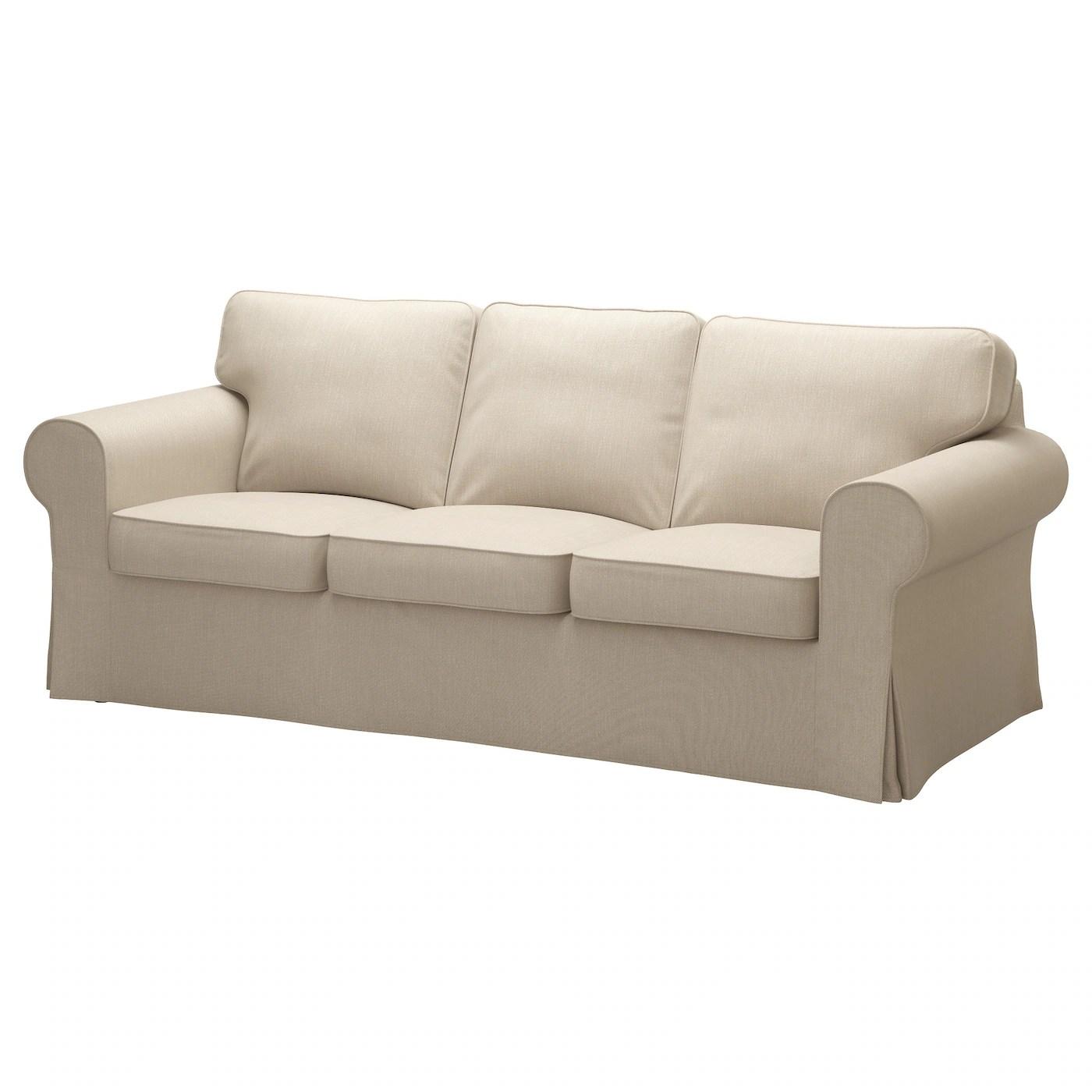 beige chair covers buy kenny chesney blue bay song ektorp cover three seat sofa nordvalla dark ikea