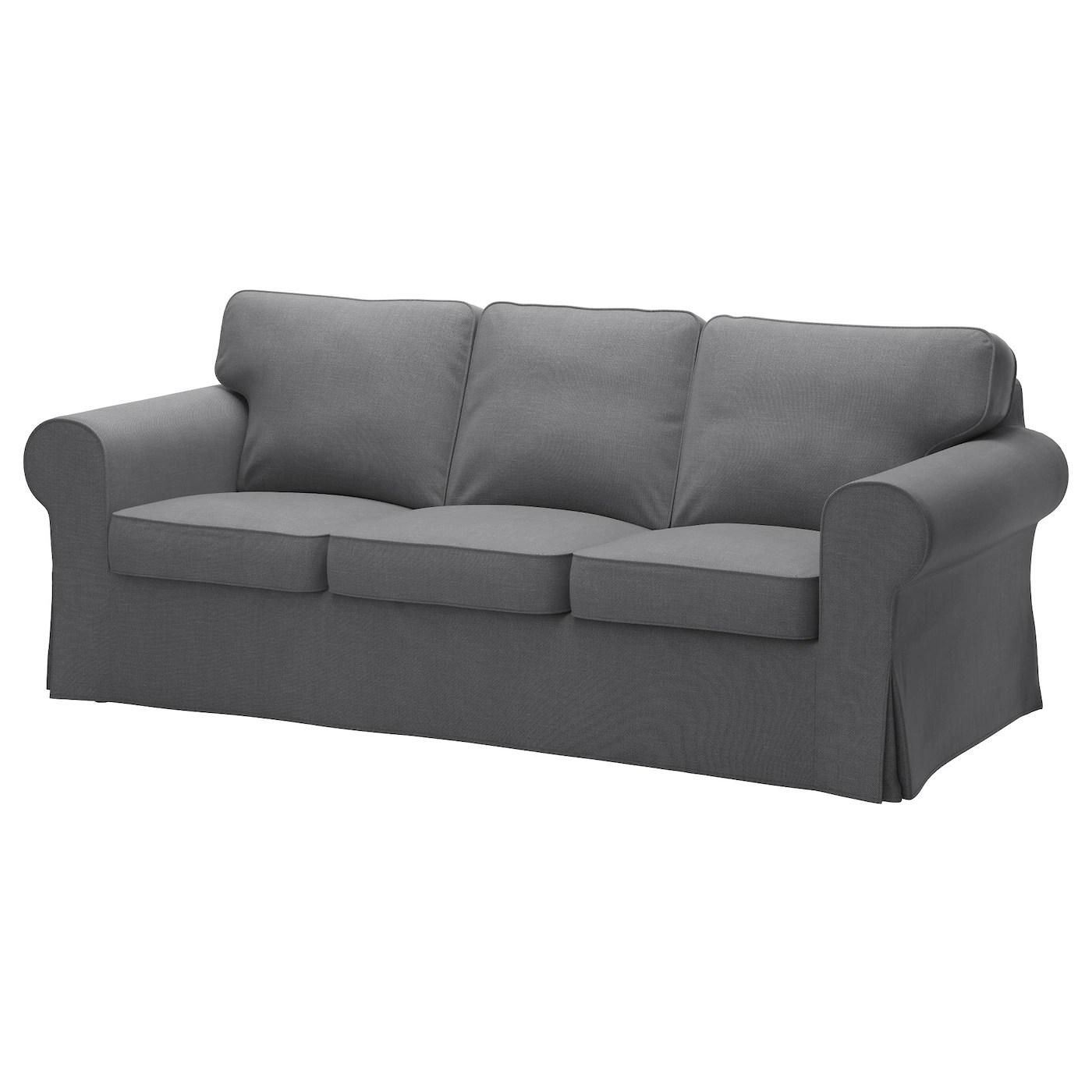 sofa foam cushions price india cama individual ektorp three-seat nordvalla dark grey - ikea