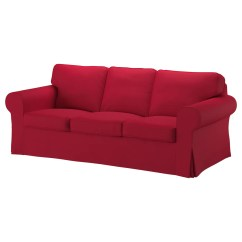Ikea Orange Chair Covers Webbed Lawn Ektorp Three Seat Sofa Nordvalla Red