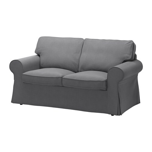 sofa conforama extra tall table ektorp two-seat nordvalla dark grey - ikea
