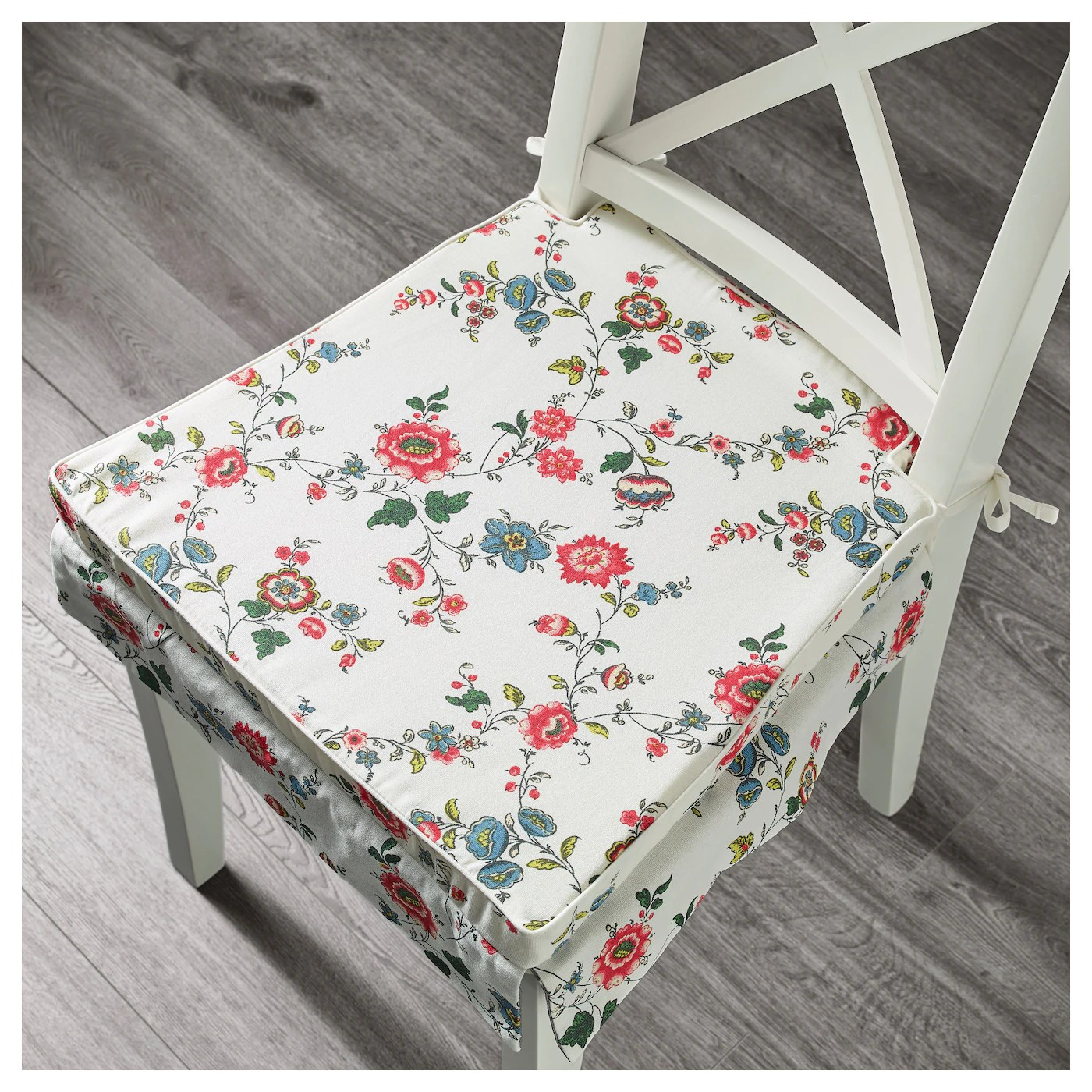 chair cushions with ties ikea shabby chic desk elsebet pad patterned 43x42x4 cm