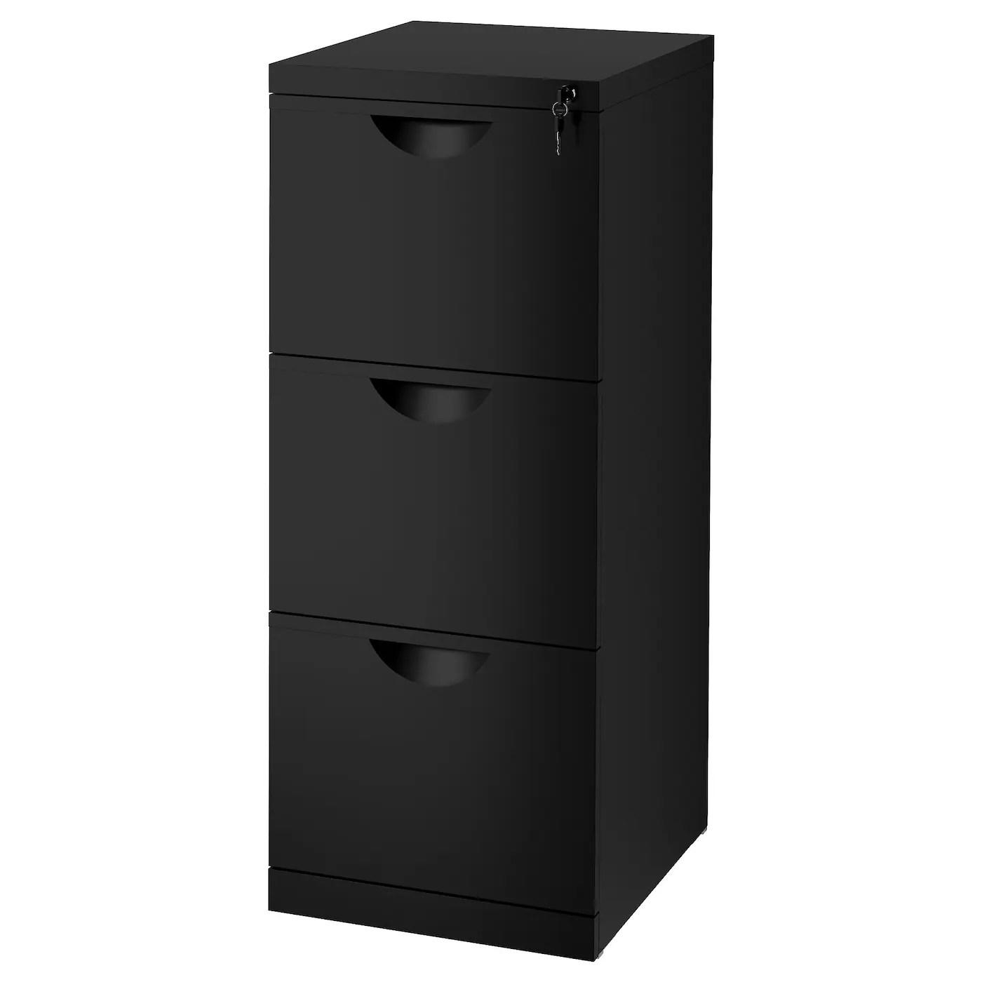 ERIK File cabinet Black 41 x 104 cm  IKEA