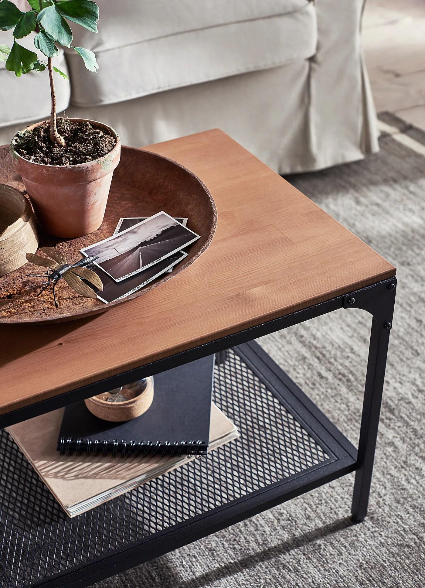 fjallbo coffee table black 90x46 cm
