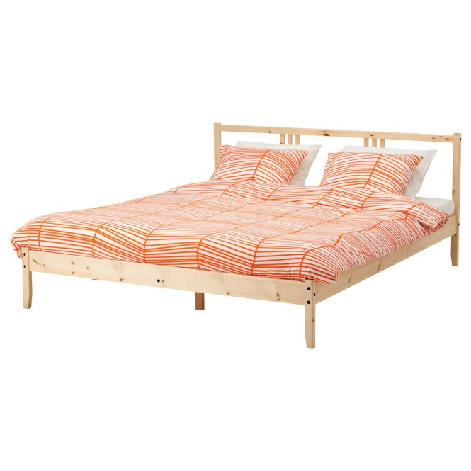 Ikea Fjellse Bed Frame Made Of Solid Wood Which Is A Hardwearing And Warm Natural