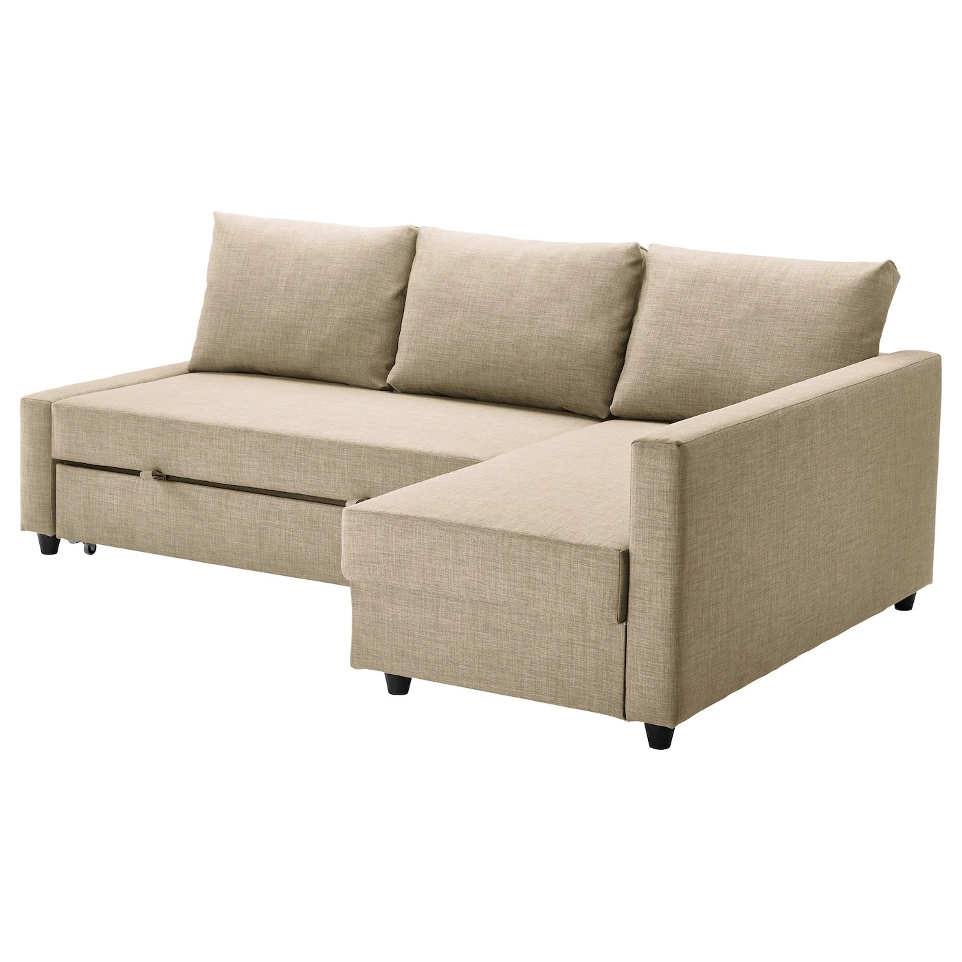 sofa chair bed ikea contemporary outdoor rocking friheten corner with storage skiftebo beige