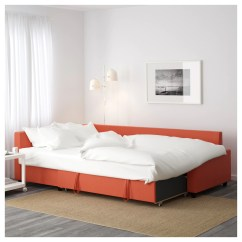 Orange And Black Sofa Bed Best Beds Affordable Friheten Corner With Storage Skiftebo Dark