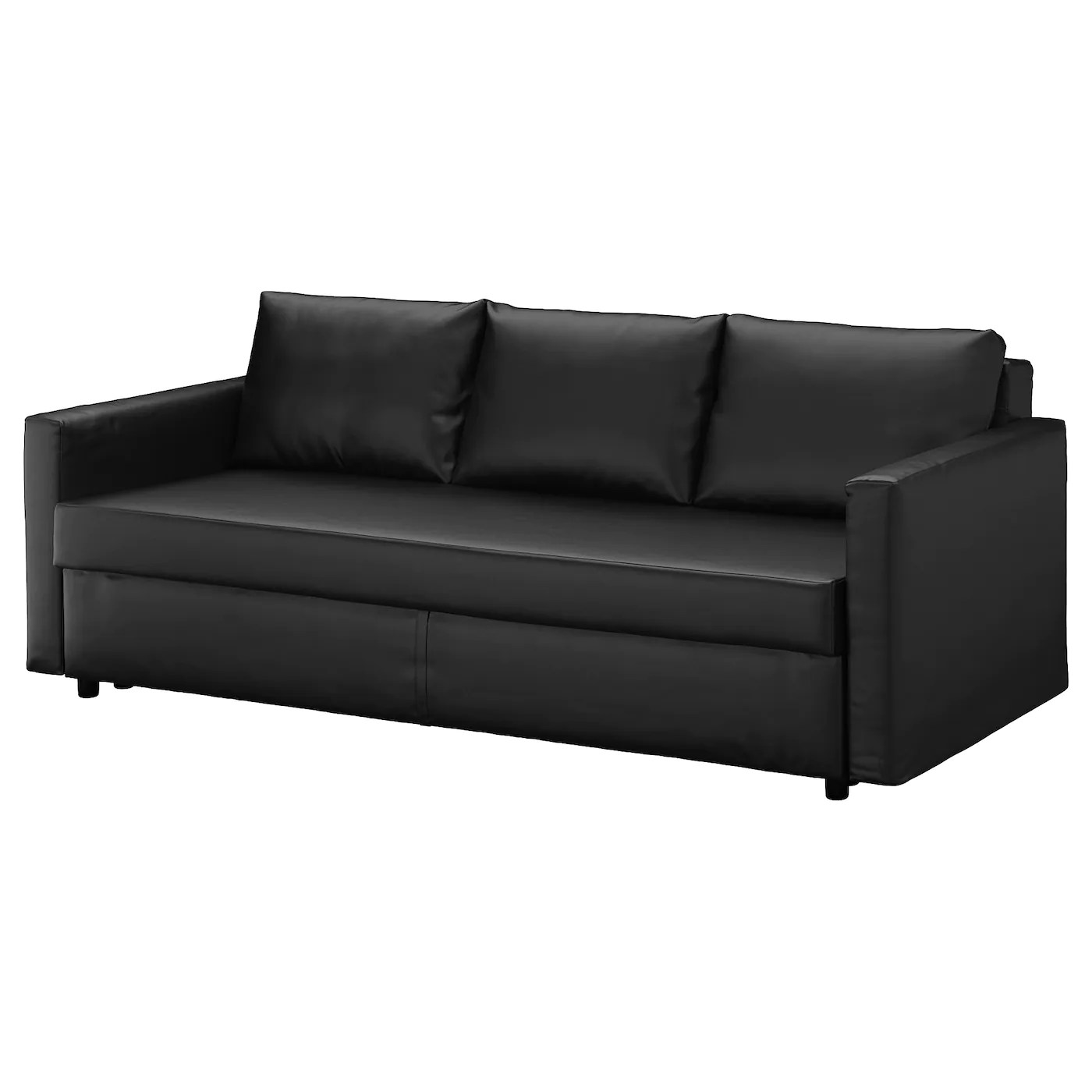 klik klak sofa with storage leather beds for sale friheten three-seat sofa-bed bomstad black - ikea