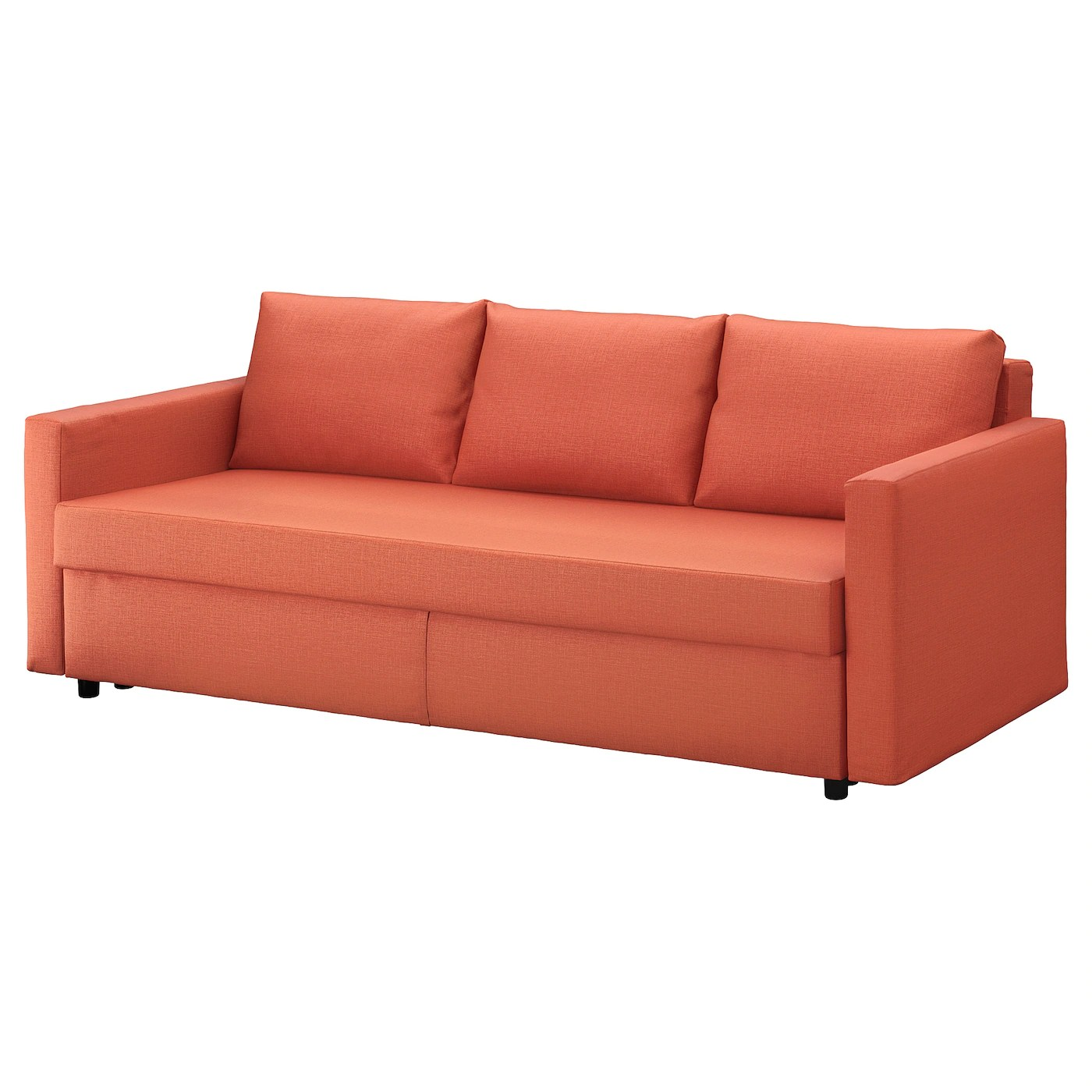 ikea lycksele sofa bed orange seafoam green sleeper divan deluxe signature by