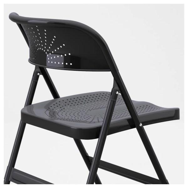 Frode Folding Chair Dark Grey - Ikea