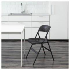 Ikea Folding Chair Posture Seat Pillow Frode Dark Grey