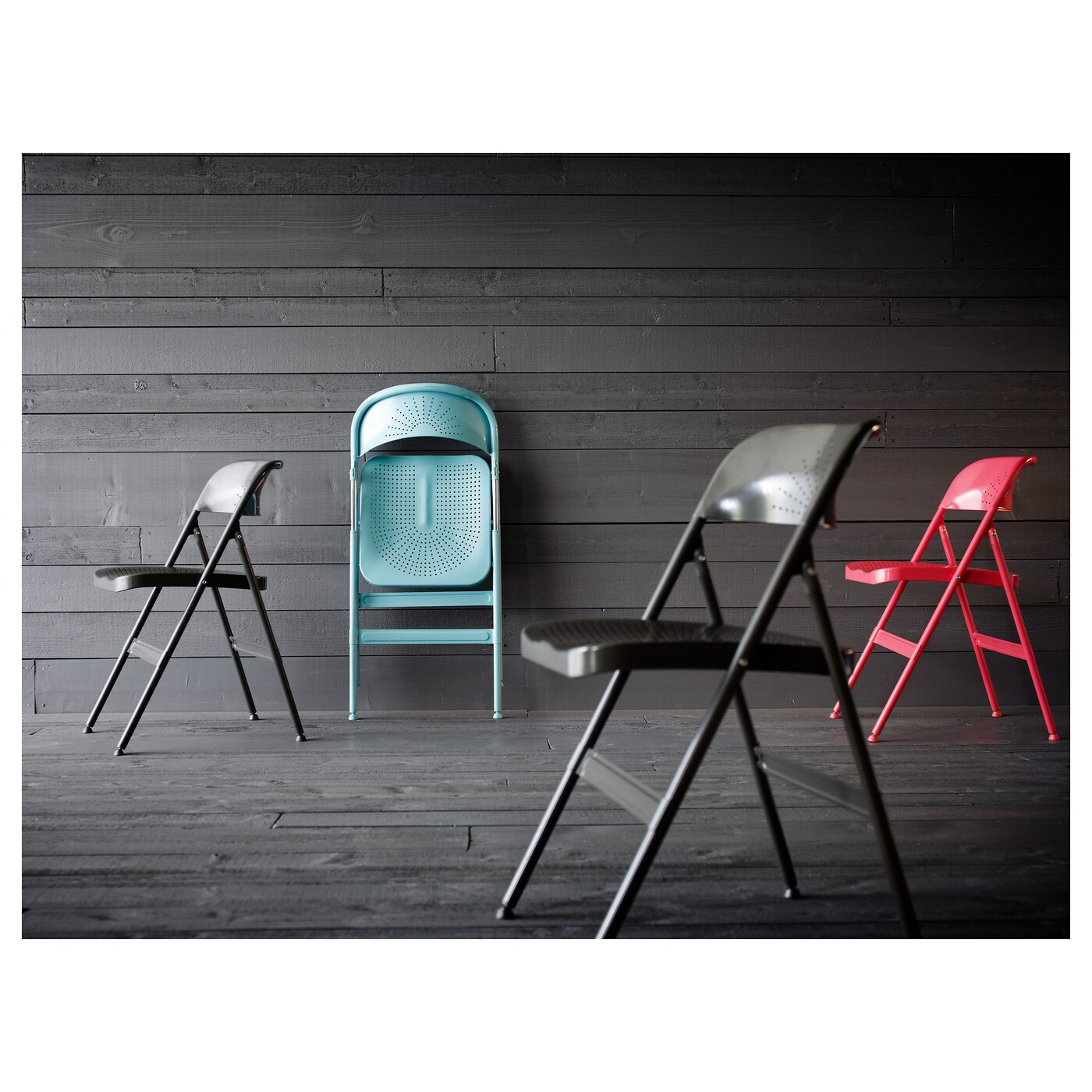 folding chairs for less bamboo chair mat carpet frode red ikea