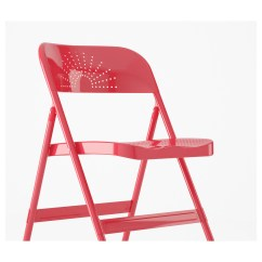 Folding Chair Ikea Makeup Vanity With Back Frode Red