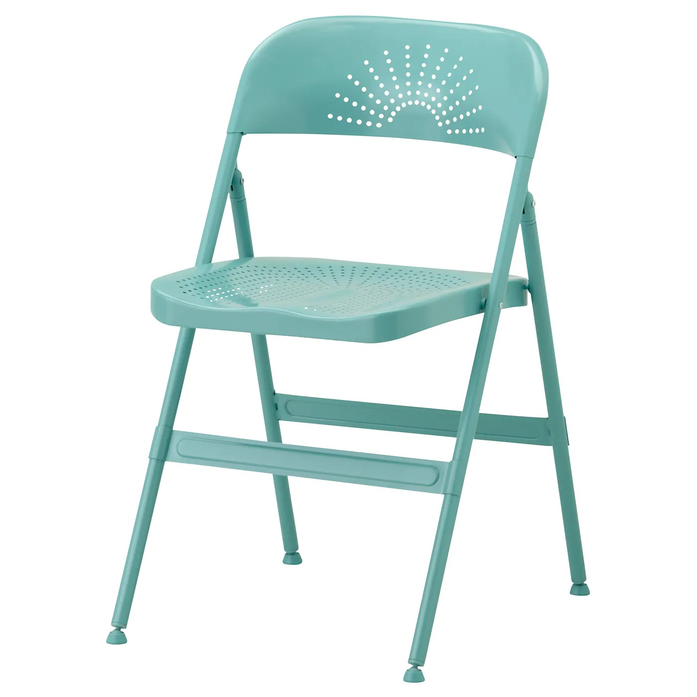 foldable chairs modern circle chair frode folding turquoise ikea