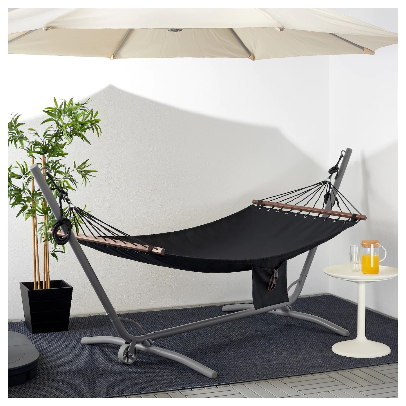 hanging chair stand ikea covers galway gÅrÖ fredÖn hammock with grey black