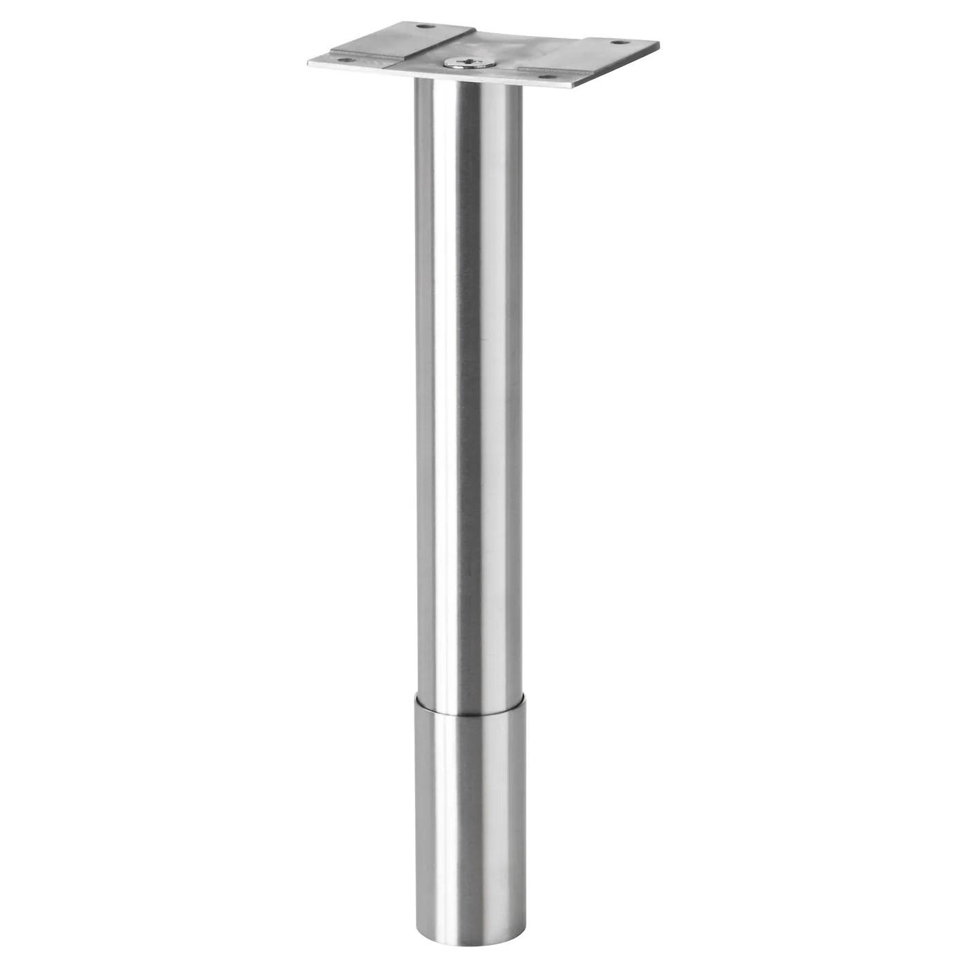stainless steel chair legs glider slipcovers godmorgon leg round 22 25 cm ikea