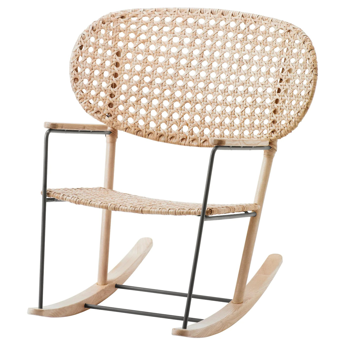 rattan chair ikea plantation cushions gronadal rocking grey natural made from and ash materials that age with