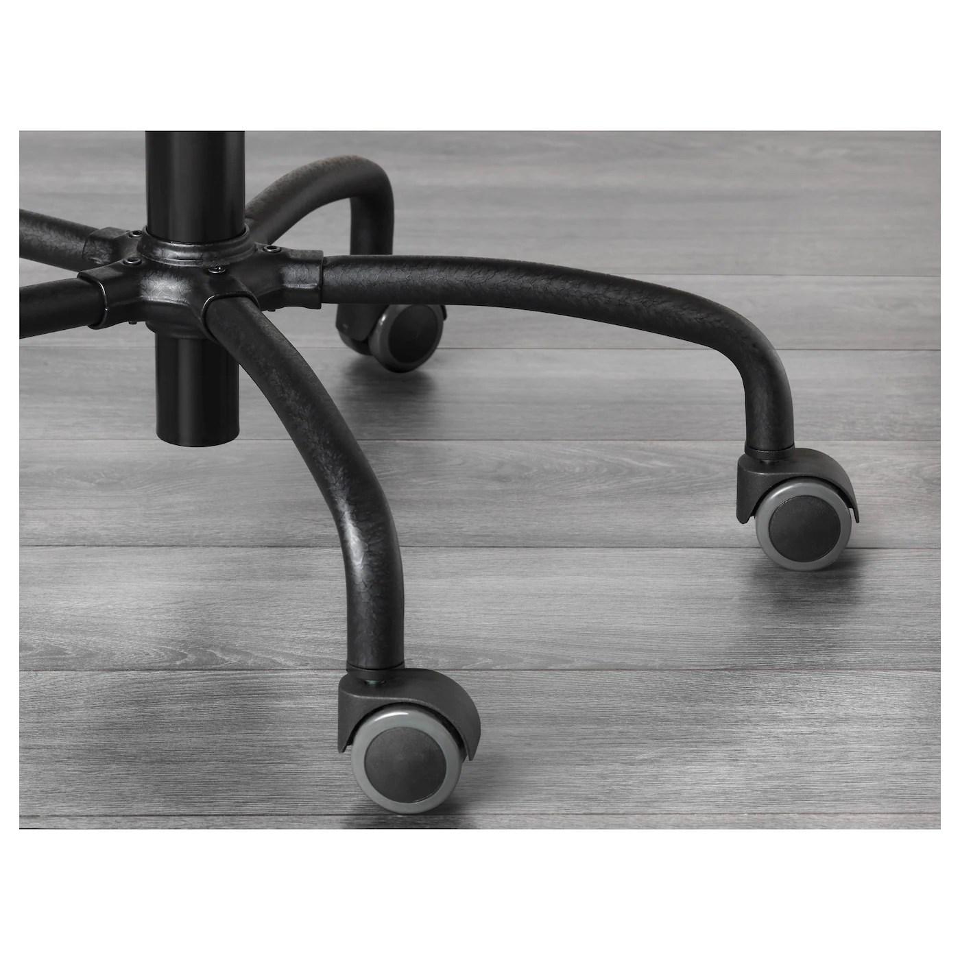 ikea gregor chair lower back pain swivel black svanby grey