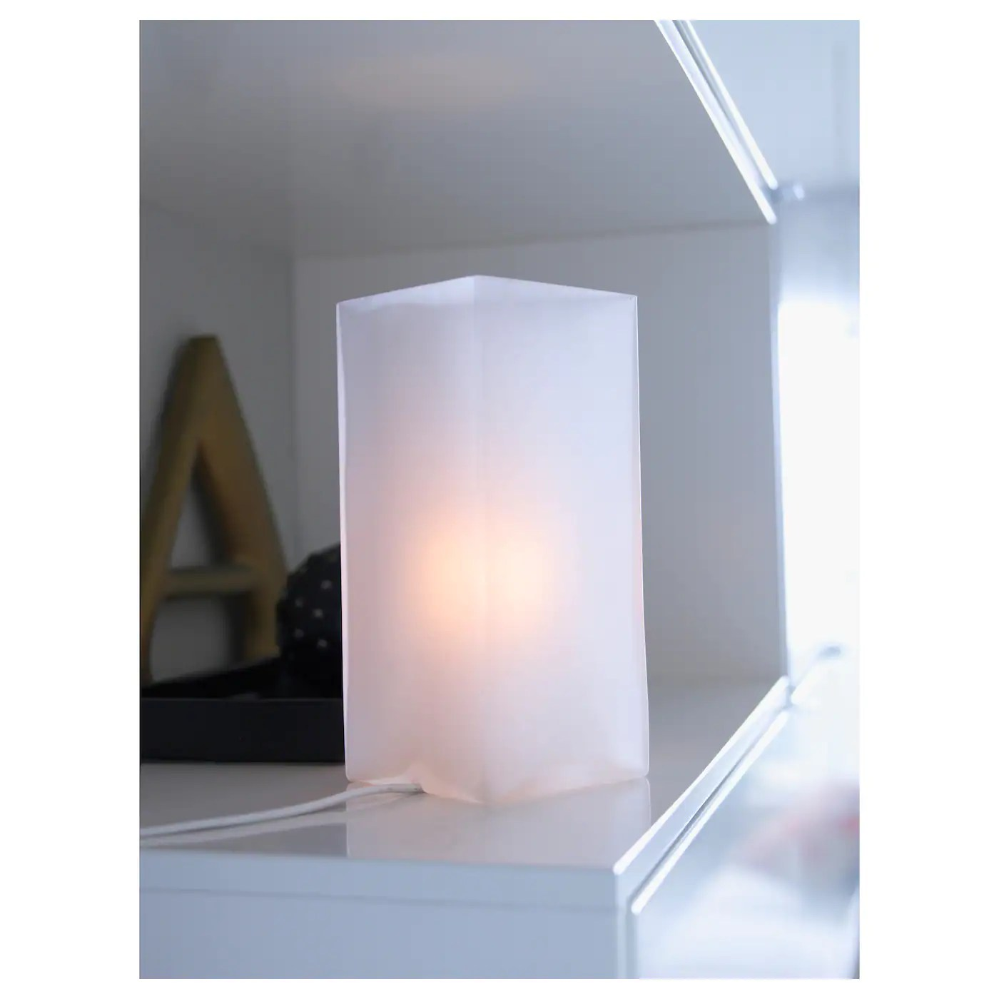 grono table lamp frosted glass white