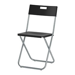 ikea casual chairs swivel sofa chair folding stackable gunde you can fold the so it takes less space when