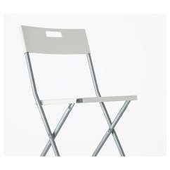 Folding Chair Ikea Wicker Lounge Gunde White