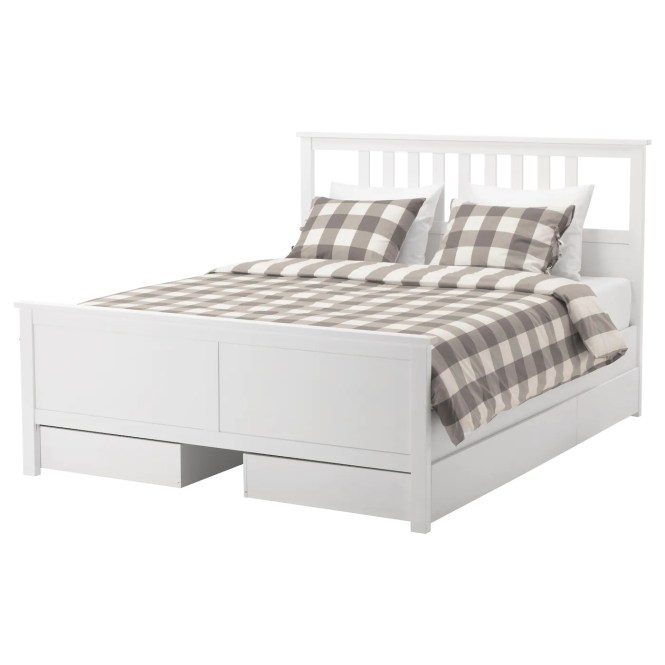 Ikea Hemnes Bed Frame With 4 Storage Bo